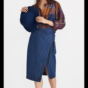 Madewell Denim Wrap Skirt in Neville Finish